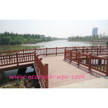 Top-End Quality WPC Floating Railing Park Guard Decking Anti Stretch Strong Fencing